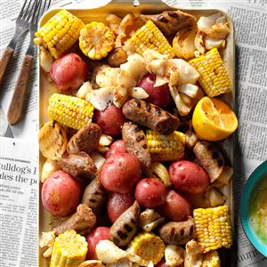 German Brat Seafood Boil Recipe