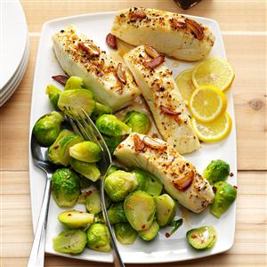 Ginger Halibut with Brussels Sprouts Recipe