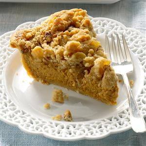 Ginger-Streusel Pumpkin Pie Recipe