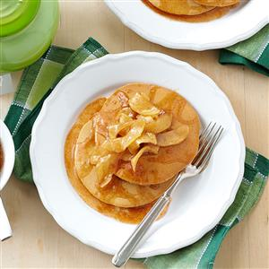 Gingerbread Pancakes with Apple Topping Recipe
