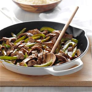 Gingered Pepper Steak Recipe