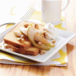 Glazed Pear Shortcakes Recipe