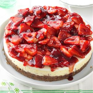 Glazed Strawberry Cheesecake Recipe