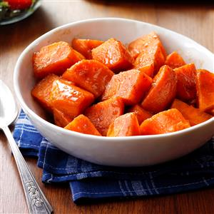 Glazed sweet potatoes recipe taste of home glazed sweet potatoes recipe forumfinder Image collections