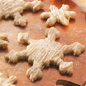 Glittered Snowflake Cookies Recipe