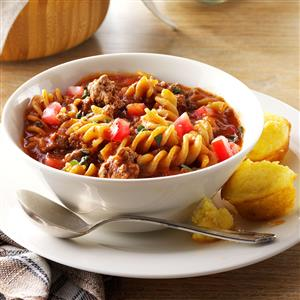 Gluten-Free Chili Beef Pasta Recipe
