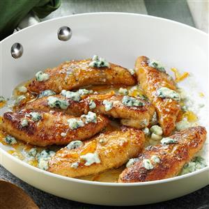Gorgonzola & Orange Chicken Tenders Recipe