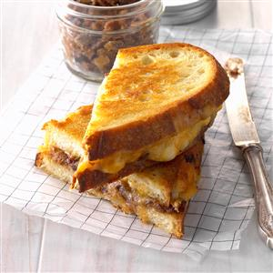 Gourmet Grilled Cheese with Date-Bacon Jam Recipe