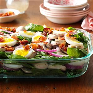 Grandma's Spinach Salad Recipe