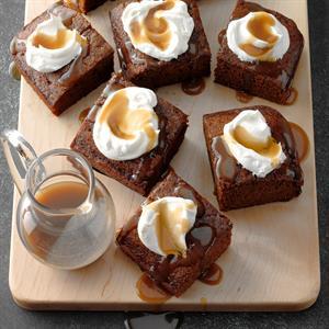 Granny's Gingerbread Cake with Caramel Sauce Recipe