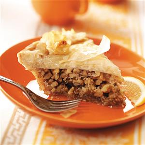 Greek Honey Nut Pie Recipe