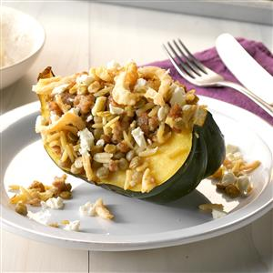 Greek-Style Stuffed Acorn Squash Recipe