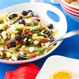 Greek Three-Bean Salad Recipe