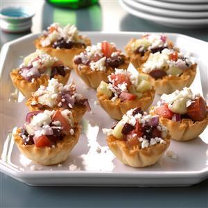 Greek Veggie Tartlets Recipe