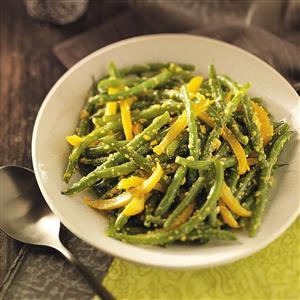 Green Beans in Yellow Pepper Butter Recipe