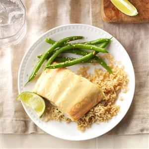 Green Curry Salmon with Green Beans Recipe