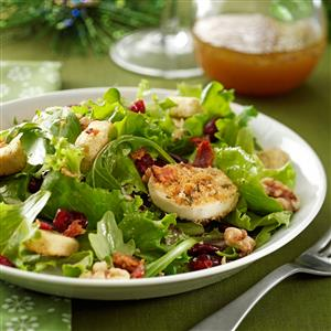 Green Salad with Baked Goat Cheese Recipe