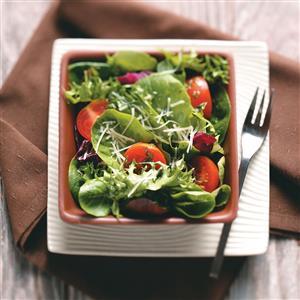 Green Salad with Tangy Basil Vinaigrette Recipe