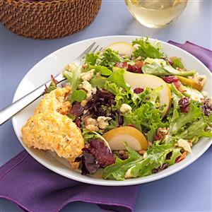 Greens with Bacon & Cranberries Recipe