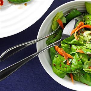 Greens with Balsamic Vinaigrette Recipe