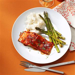 Grilled Barbecued Salmon Recipe