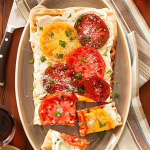 Grilled Cheese & Tomato Flatbreads Recipe