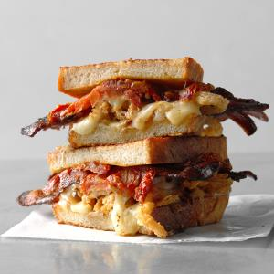 Grilled Cheese, Bacon and Oven-Dried Tomato Sandwich Recipe