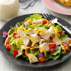 Grilled Chicken on Greens with Citrus Dressing Recipe