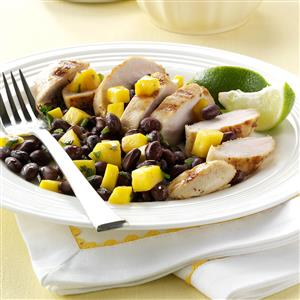 Grilled Chicken with Black Bean Salsa Recipe