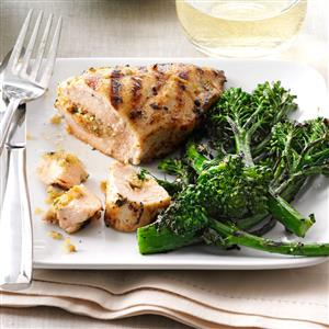 Grilled Chicken with Herbed Stuffing Recipe