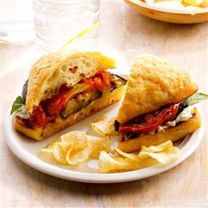 Grilled Eggplant Sandwiches Recipe