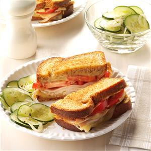 Grilled Hummus Turkey Sandwich Recipe