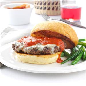 Grilled Italian Burgers Recipe