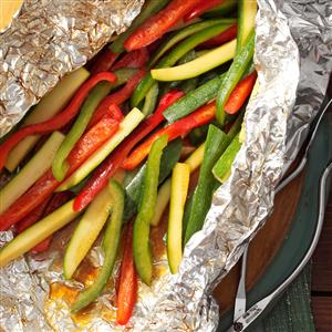 Grilled Peppers and Zucchini Recipe