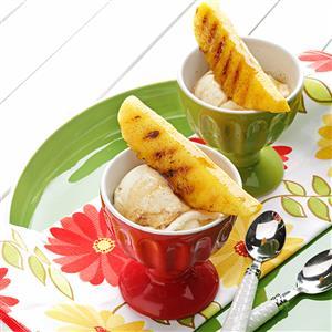 Grilled Pineapple & Maple Sundaes Recipe