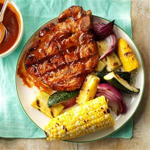 Grilled Pork Chops with Smokin' Sauce Recipe