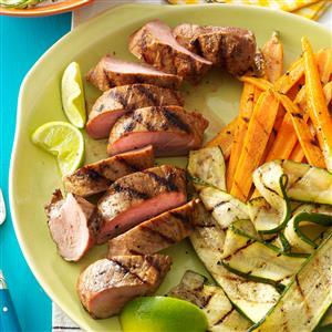 Grilled Pork Tenderloin & Veggies Recipe