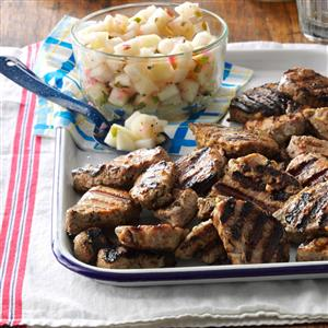 Grilled Pork with Pear Salsa Recipe