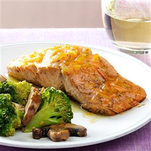 Grilled Salmon with Marmalade Dijon Glaze Recipe