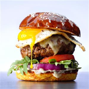 Gruyere and Egg Burgers Recipe