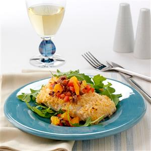Halibut with Orange Salsa Recipe