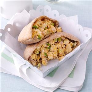 Ham & Egg Pita Pockets Recipe