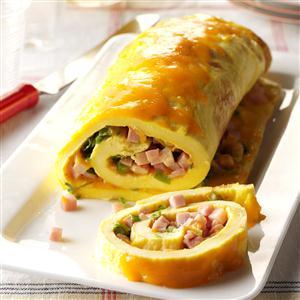 Ham 'n' Cheese Omelet Roll Recipe