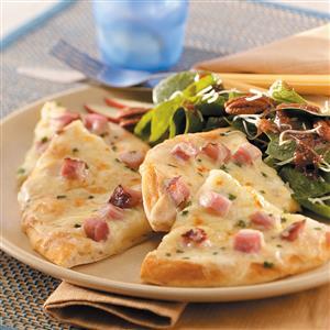 Ham 'n' Cheese Pizzas Recipe