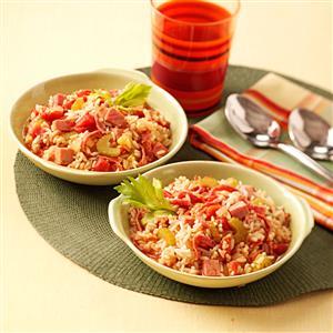 Ham 'n' Salami Jambalaya Recipe