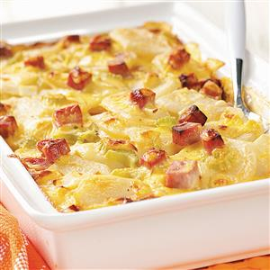 Ham and Creamy Potato Scallops