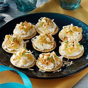 Hawaiian Crab Canapes Recipe