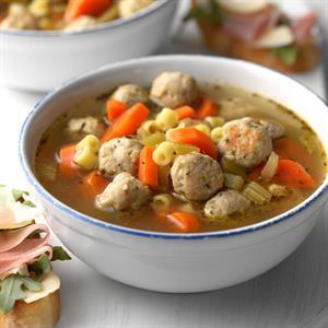 Hearty Turkey Meatball Soup Recipe