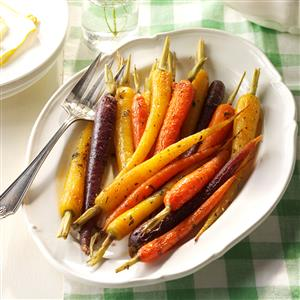 Herb-Buttered Baby Carrots Recipe