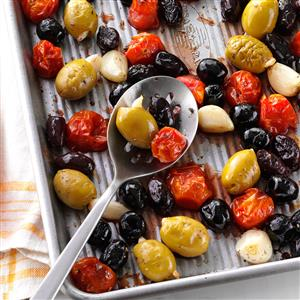 Herb-Roasted Olives & Tomatoes Recipe